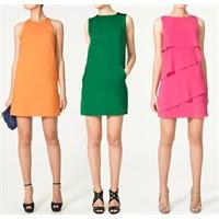 Zara–2011 Yaz Renkli Elbise Modelleri