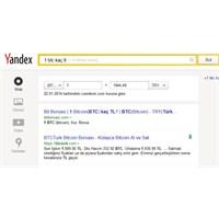 Yandex'in Bitcoin Kur Hesapları!