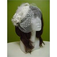 Beyaz Nikah Şapkası Ve Gelin Eldiveni