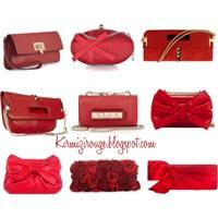 Valentino'nun Muhteşem Kırmızı Clutch'ları..