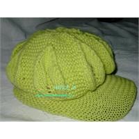 Yeşil Siperli Şapka Açiklamali