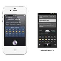 Apple'ın Siri'si, Samsung'un S Voice'una Karşı