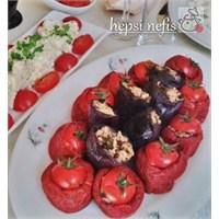 Zeytinyağlı Kuru Patlıcan- Biber Dolması