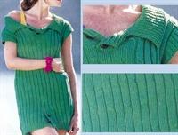 Yeşil Örgü Elbise Kazak