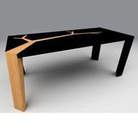 Olivier Dollé Tasarımı Organik Ahşap Masalar