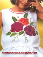 Çiçek Desenli Merserize Bluz..