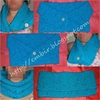 Mavi Renkli Pirinç Örgülü Boyunluk