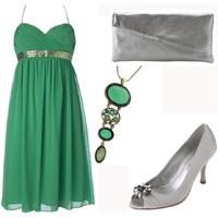 Çok Şık Yeşil Elbise Modelleri