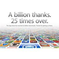 Apple Uygulama Mağazası 25 Milyar İndirmeyi Geçti