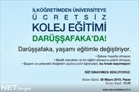 Darüşşafaka Okulları Sınavı 30 Mayıs'ta