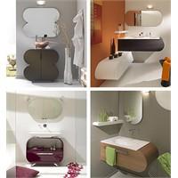 Renkli Banyo Dolapları Modelleri