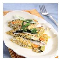 Hamsili ve sebzeli omlet