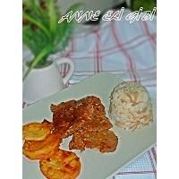 Salçalı Biftek, Patates Ve Şehriyeli Pilav