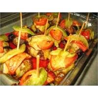 Lezzetli Patlıcanlı Kürdan Kebabı