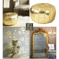Renk Temalarında Altın Dekorasyonlara Devam