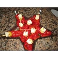 Peynirli Kırmızı Biber Lokmalıkları