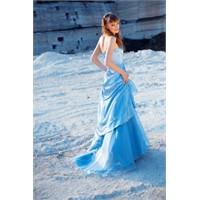 Mavi Balo Elbise Modelleri