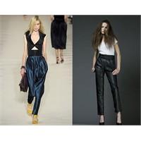 Pileli Ve Dar Paçalı Düşük Bel Pantolonlar