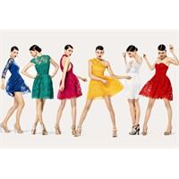 Dantel Renkli Elbiseler