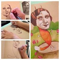 Anne İle Küçük Kızın Sanattaki İşbirliği