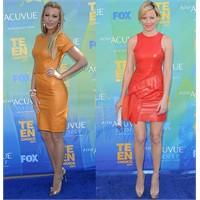 Kırmızı Halıda Trend: Deri Elbiseler