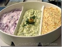 Yoğurtlu Havuç-kabak-kırmızı Lahana Salataları