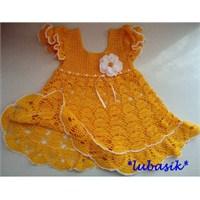 Tığ İşi Bebek Elbisesi