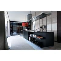 Siyah Akrilik Mutfak Dolapları