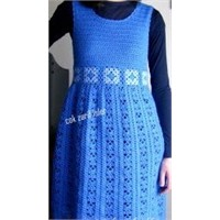 Mavi Tığ İşi Elbise