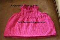 Pembe Askılı Bebek Elbisesi..