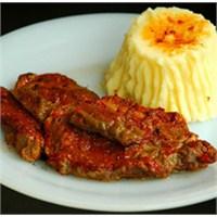 Patates Püreli Salçalı Biftek