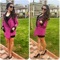 Kombin Önerileri 111 : Asymmetric Purple Coat !