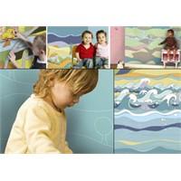 Desenli Çocuk Odası Duvar Kağıdı Modelleri