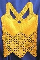 Sarı Tığ İşi Çapraz Askılı Bluz Yapımı