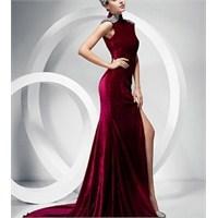 2013 Uzun Kadife Elbise Modelleri