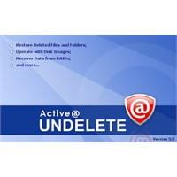 Active Undelete İle Silinen Dosyaları Geri Getirin