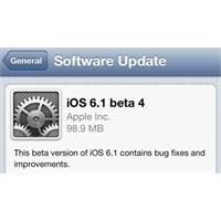 İos 6.1 Beta 4 Geliştiricilere Sunuldu