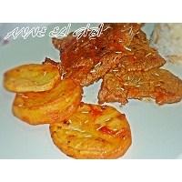 Salçali Biftek,patates Ve Pilav