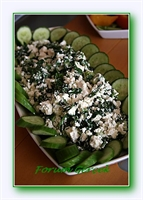 Dereotlu Ve Naneli Beyaz Peynir Salatası