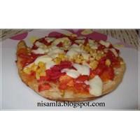 Bazlamadan Pratik Pizza Yapımı