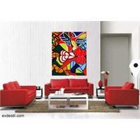 7 Kırmızı Beyaz Salon Dekorasyonu
