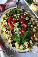 Kabak Kızartmalı Domates Salatası