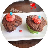 Kakaolu Çikolatalı Muffins Tarifi