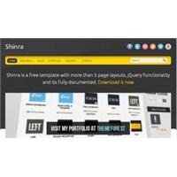 Shinra Html5 Css Template Ücretsiz İndir