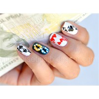 Poker Hand Nail Art Denemem