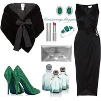 Siyah Elbiseyle Farklı Kombinler -2