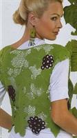 Yaprak Motiflerinden Yazlık Yeşil Bluz Yapımı