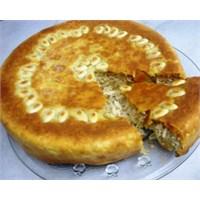 Fırında Etli Pirinçli Tart