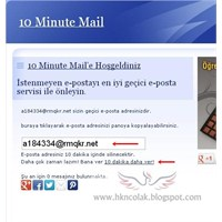 Geçici Kayıtlar İçin E-posta Alma Servisi