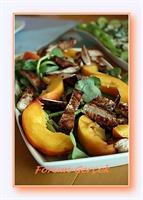 Balzamik Tavuklu Şeftali Salatası